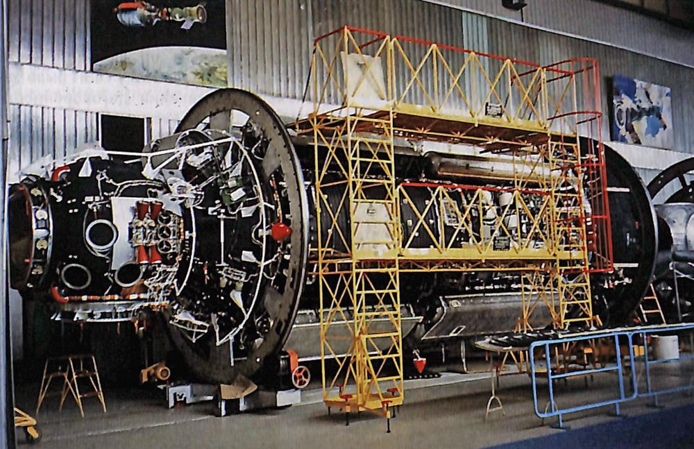 El módulo BFC-2, futuro Naúka, en la fábrica